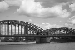 Steel Bridge. Over the Rhein river Royalty Free Stock Image