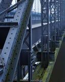 Steel Bridge. Over a River in Hamburg stock image