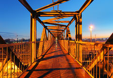 Steel bridge for people Stock Photography