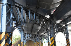 Steel bridge steel frame Royalty Free Stock Photos