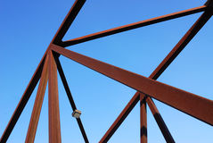 Steel bridge structure Stock Photo