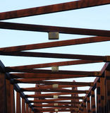 Steel bridge structure Royalty Free Stock Photography