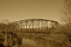 Steel Bridge, A Study in Sepia royalty free stock photography