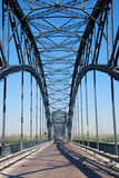 Steel bridge superstructure. Steel superstructure of a large highway suspension bridge Royalty Free Stock Images