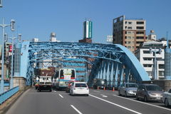 Steel bridge in Tokyo Japan Royalty Free Stock Images