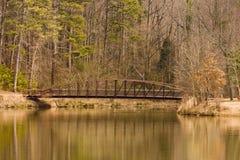 Steel Bridge in Winter Royalty Free Stock Image