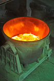 Steel bucket to transport the molten metal Royalty Free Stock Photos