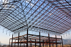 Steel building. A abandon steel building's skeleton Royalty Free Stock Images