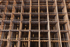 Steel building armature Stock Images