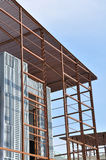 Steel building construction framework Royalty Free Stock Photography
