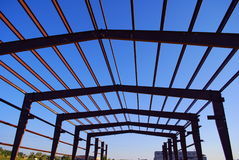 Steel building frame Stock Photos