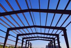 Steel building frame Stock Photos