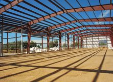 Steel building frame Royalty Free Stock Photography