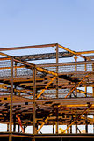 Steel Building Frame Construction Stock Photography