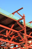 Steel building structure Royalty Free Stock Image