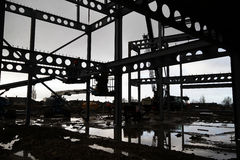 Steel building structure frame. Royalty Free Stock Photography