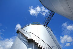 Steel Bulk Storage Tank Royalty Free Stock Images