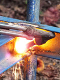 Steel burner royalty free stock image