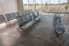 Steel Bus Station Waiting Chairs Stock Photography