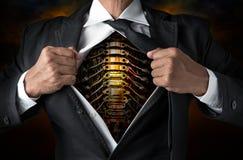 Steel businessman Stock Images