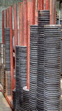 Steel Butt-Weld Pipe Fittings, Forged Flange, cast iron wheels. Stock Photos