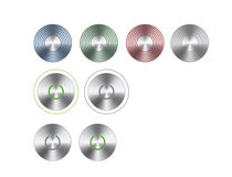 Steel buttons Royalty Free Stock Image