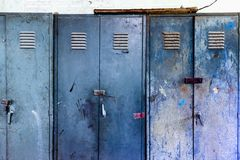 Steel cabinet stock image