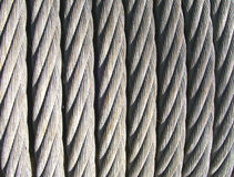 Steel cable. Strong cable made of steel, Italy Royalty Free Stock Image