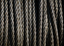 Steel cable. Drum of steel cable at dockside Stock Photography