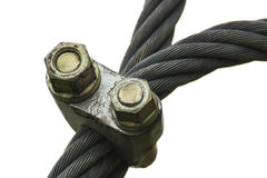 The steel cable Stock Images