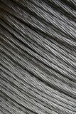 Steel cable. A close up view of coiled steel cable Royalty Free Stock Images