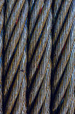 Steel cable close-up photo. Royalty Free Stock Photo