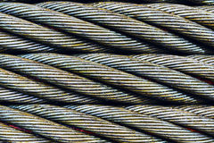 Steel cable close-up photo. Stock Photography