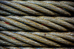 Steel cable close-up photo. Stock Images