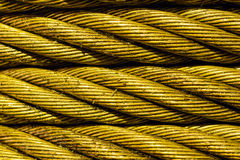 Steel cable close-up photo. Stock Photos