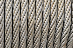 Steel Cable Close Up Stock Photo