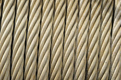 Steel Cable Close Up Stock Images
