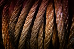 Steel Cable background stock image