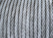 Steel cable on a coil Stock Photography