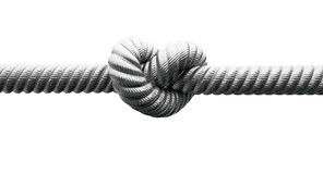 Steel Cable With Knot Closeup Stock Images