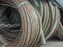 Steel cable rolled up Royalty Free Stock Photo