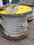 Steel cable in spool. Steel cable textures suitable as background Stock Photography