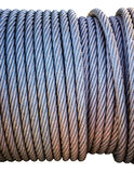Steel cable spool Royalty Free Stock Photography
