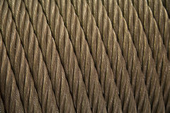 Steel cable texture Royalty Free Stock Images