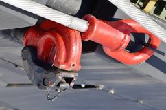 Cable for towing the car. Steel cable is used for towing auto.It is heavy and very durable Stock Photos