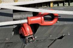 Cable for towing the car. Steel cable is used for towing auto.It is heavy and very durable Stock Images