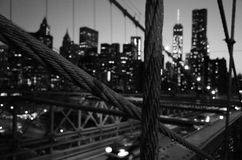 Steel cables of Brooklyn Bridge Royalty Free Stock Photo