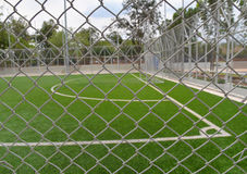 Steel Cage Football/soccer field Royalty Free Stock Image