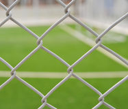 Steel Cage Football/soccer field Stock Photos