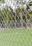 Steel Cage Football/soccer field Stock Images